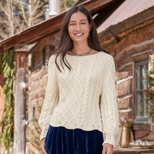 Sundance Gable Road Sweater Sz S NWT Cable Knit